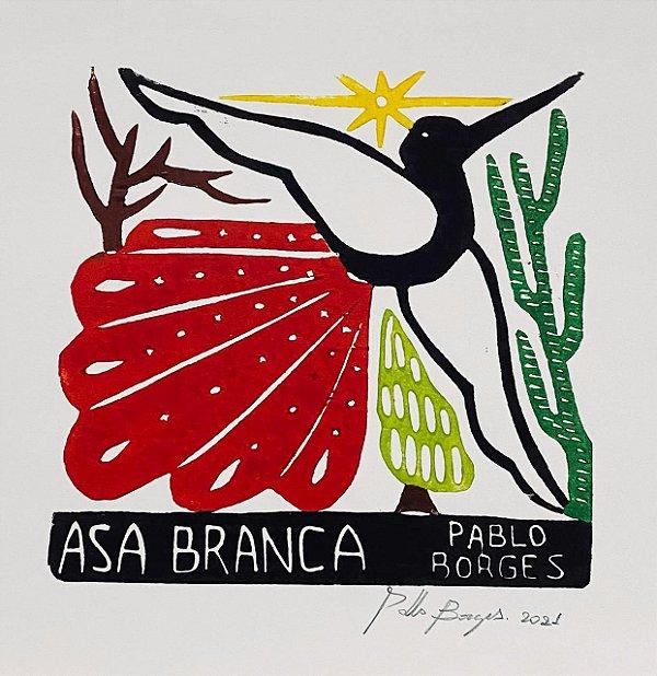 "Xilogravura ""Asa Branca"" P -  Pablo Borges - PE"