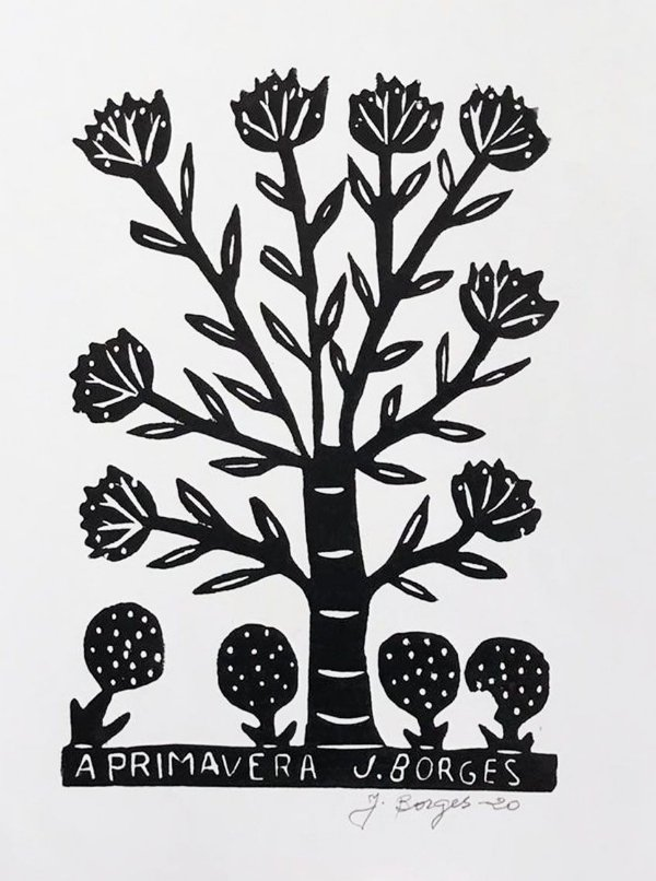 "Xilogravura ""A Primavera"" M - J. Borges - PE"
