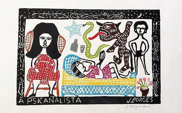 "Xilogravura ""A Psicanalista"" G - J. Borges - PE"
