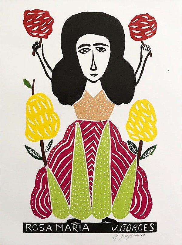 """Xilogravura """"A Rosa Maria"""" G - J. Borges - PE"""