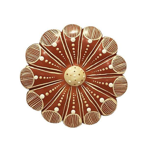 Flor de Parede Vermelha 10 Cm - Vale do Jequitinhonha - MG