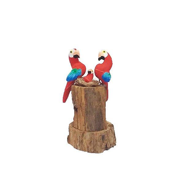 Tronco Com 2 araras vermelhas - MS