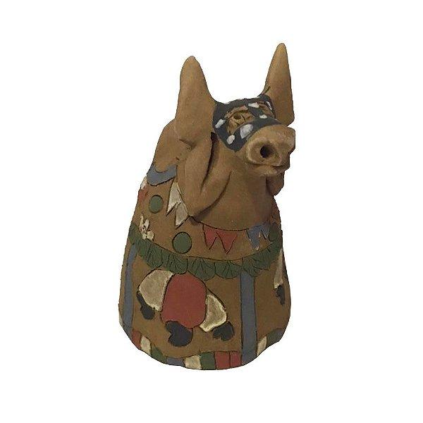 Boi em cerâmica da Irailda Capela PP - AL