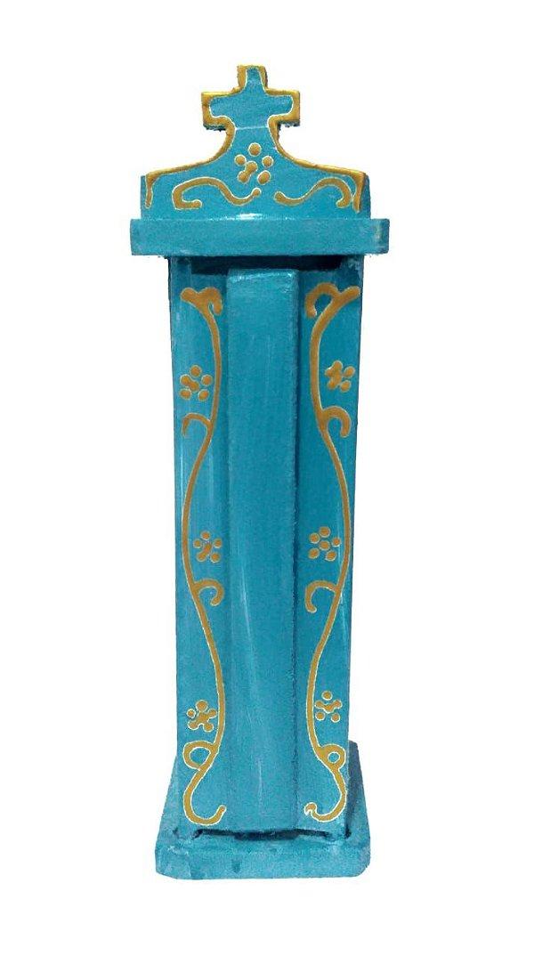 Oratório Madeira Azul Claro PP - PB