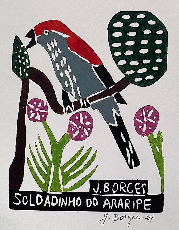 "Xilogravura ""Soldadinho do Araripe"" P - J. Borges - PE"