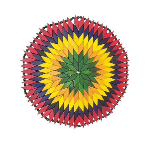 Sousplat M madeira colorido - CE