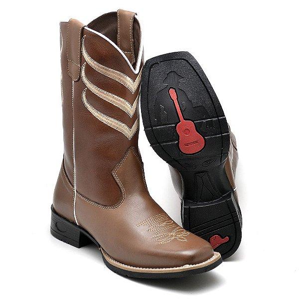 bota-country-texana-couro-borracha-sola-viola-forro-couro-costurada ... 2c50669520e