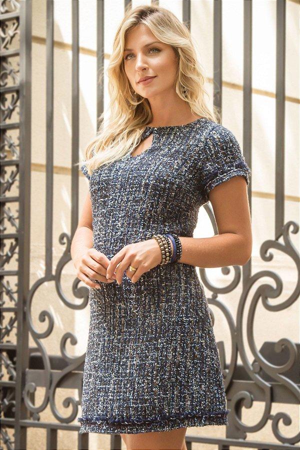 Vestido Tweed Color