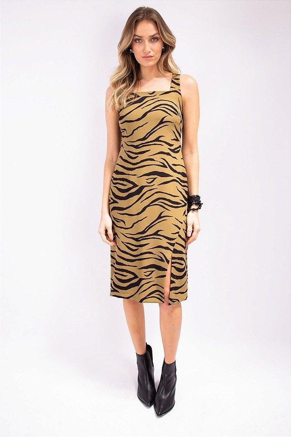 Vestido Midi Lovely Animal Print