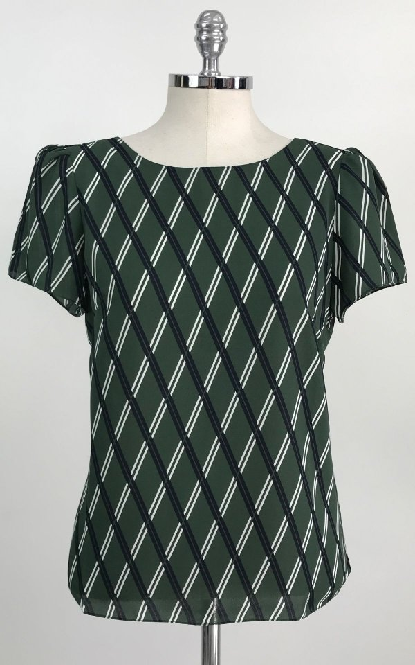 Blusa Green Geometric