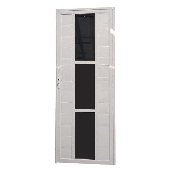 Porta Elegance 2.0 Branca 2,10x0,80 abertura direita - vidro fumê