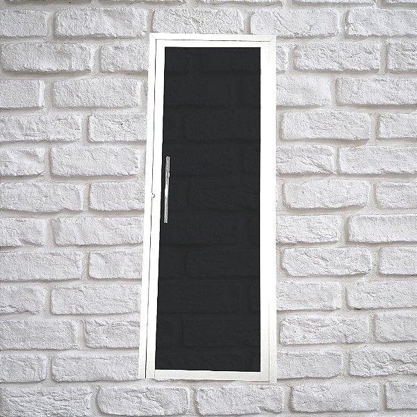 Porta Glass Branca 2,10x0,80 abertura esquerda - vidro temperado c/ puxador