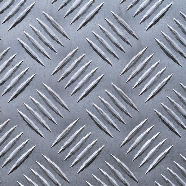 Chapa xadrez 2500 x 1000 x 2,2 - Peso teórico 17,30