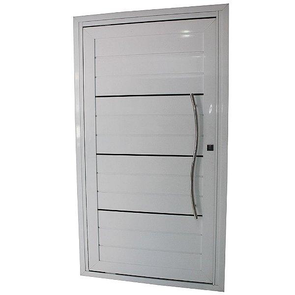 Porta Pivotante de Alumínio Branca 220x120 Abertura Direita