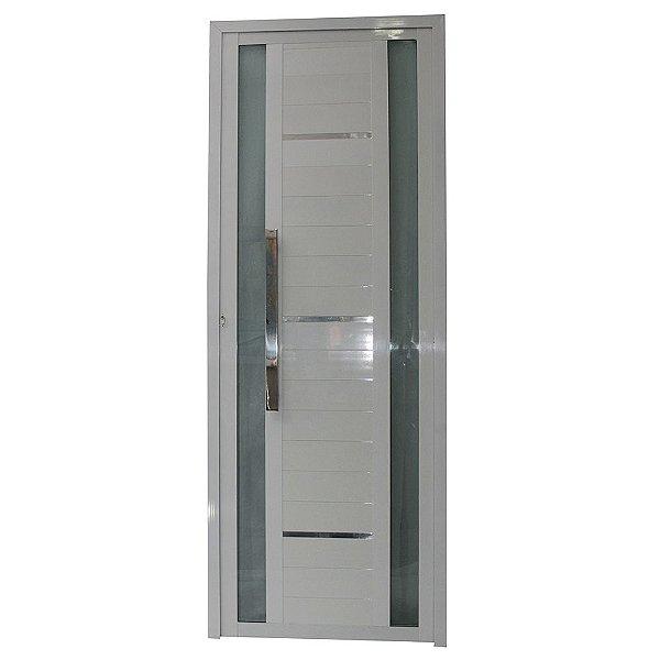 Porta Sublime Branca 210x100 Abertura Esquerda, Vidro Fumê