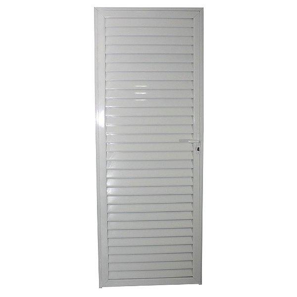 Porta Veneziana Branca 210x70 Abertura Direita