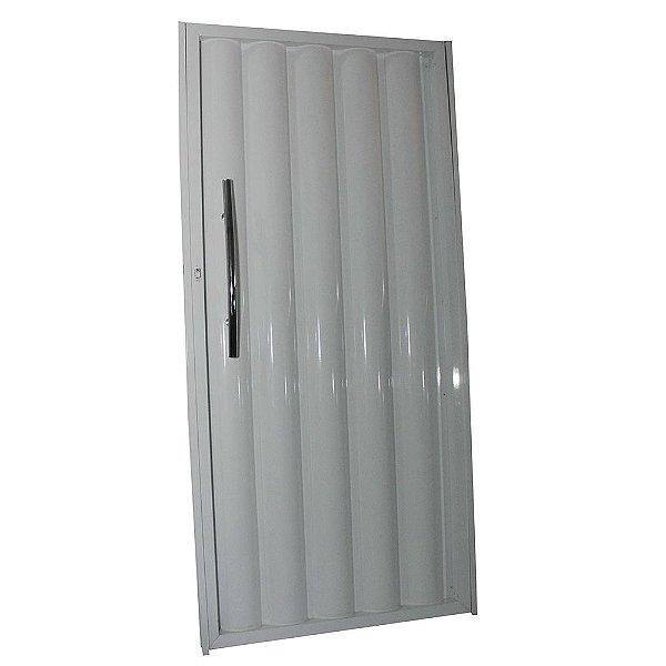 Portão de Alumínio Búzios Branco  180x82 Abertura Esquerda