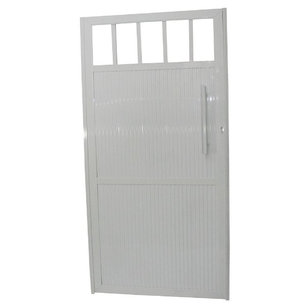 Portão Standard Branco 180x80 Abertura Esquerda Sem Puxador