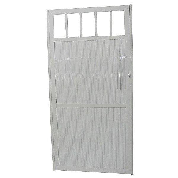 Portão Standard Branco 180x80 Abertura Esquerda Com Puxador