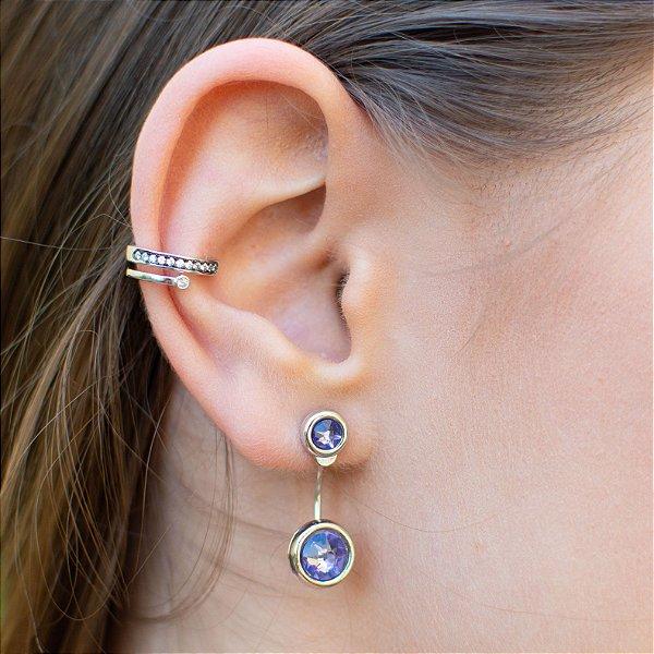 Fake piercing conch em prata 925