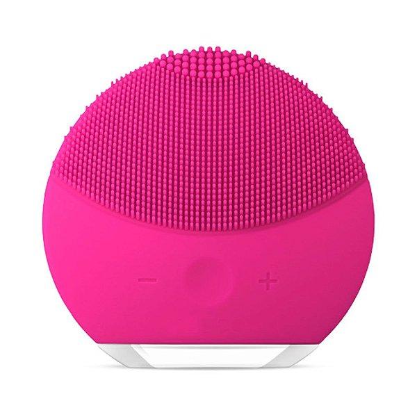 Esponja Elétrica Forever de Limpeza de pele Facial Massageadora de Silicone Pink