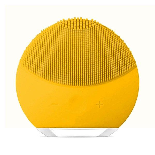 Esponja Elétrica Forever/ForClean de Limpeza de pele Facial Massageadora de Silicone Amarela