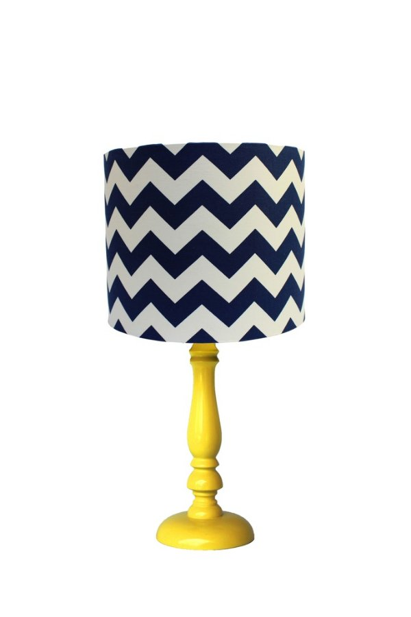 Abajur Chevron Navy