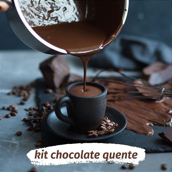 KIT Chocolate quente cremoso para 4 PESSOAS - Faça chocolate quente em casa!
