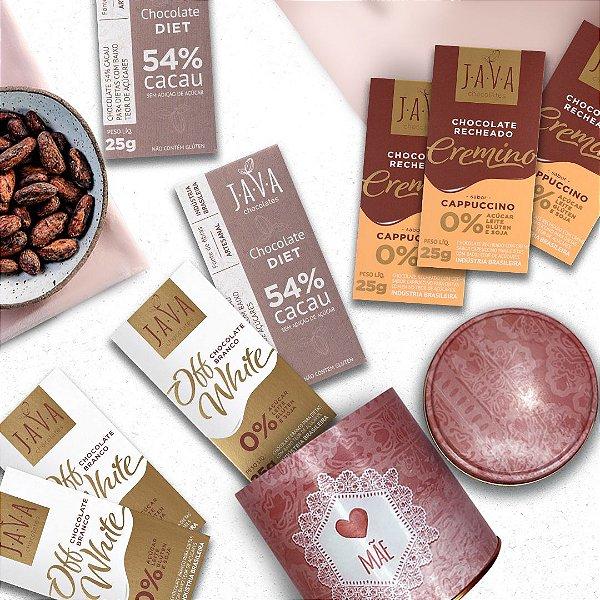 Presente para mãe - Kit Chocolates ZERO Açúcar na LATA