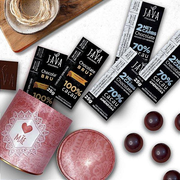 Presente mãe - Kit Chocolates LOW CARB na LATA