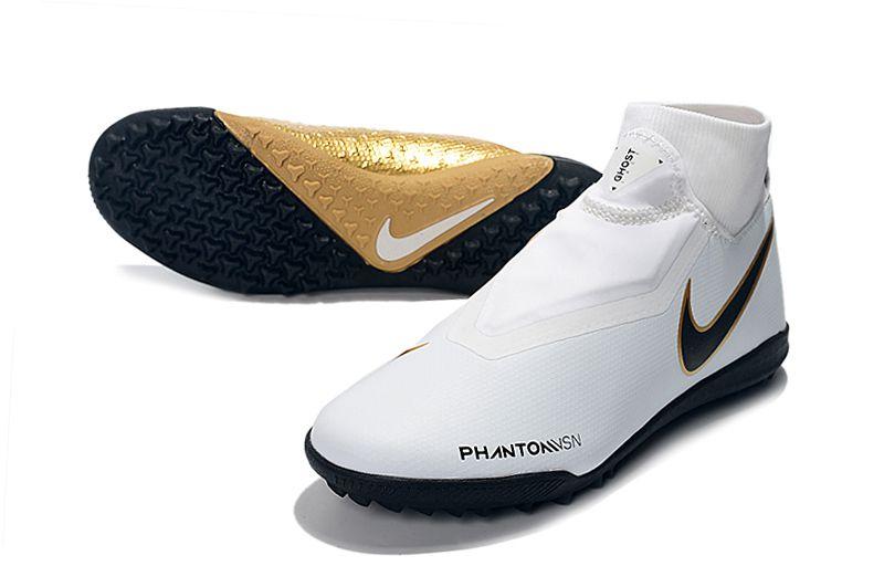 Chuteira Nike Phantom Vision Elite Society Cano Alto Dourada FRETE GRÁTIS