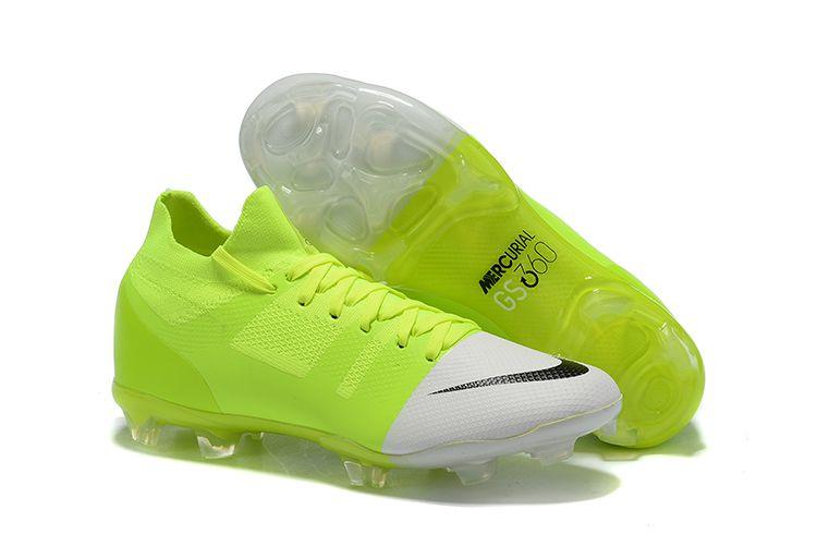 Chuteira Campo Nike Mercurial Greenspeed 360 FG Verde e Branco FRETE GRÁTIS
