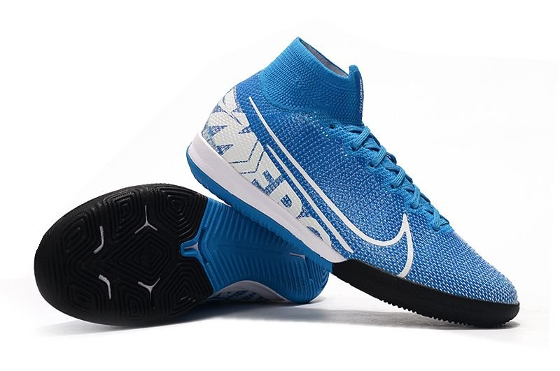 Chuteira Nike Mercurial Superfly 7 Elite TF Futsal Azul FRETE GRÁTIS