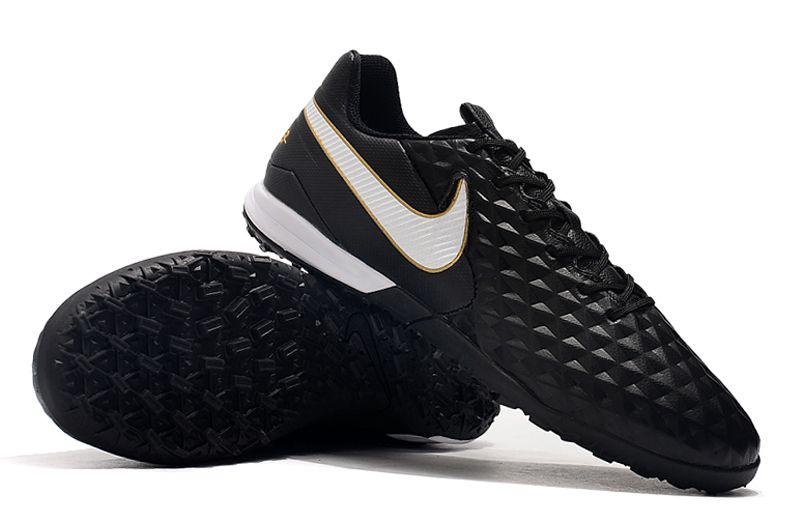 Chuteira Society Nike Tiempo Legend 8 Pro Preto/ Branco FRETE GRÁTIS