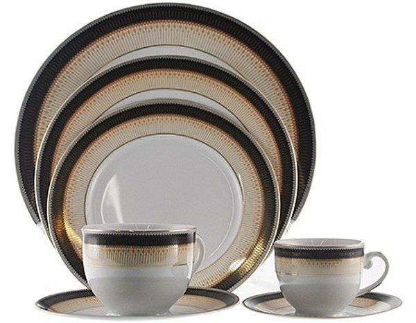 Aparelho de Jantar Chá Café 42 Peças APJA020 Porcelana - Casambiente
