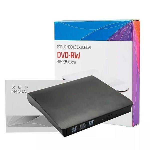 Gravador Externo Dvd E Cd USB 3.0 Com Case - USB 3.0