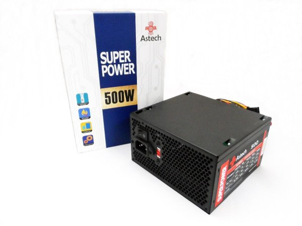 Fonte Gamer Astech 500W Super Power Bivolt 24P Sata
