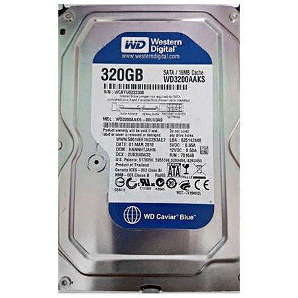 """Hd Wd 320gb Sata Ii 3.0gb/s 16mb Cache 7.200rpm 3.5"""" Wd3200aaks - Desktop"""