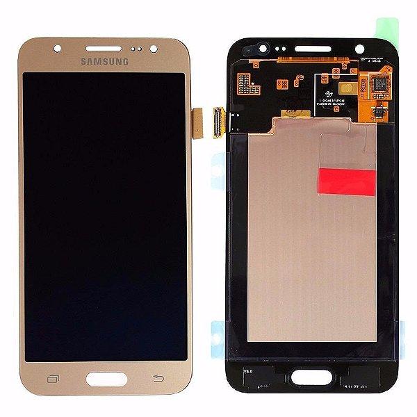 Tela Touch Frontal Display LCD Galaxy J5 J500 SM-J500M/DS Dourado - Original