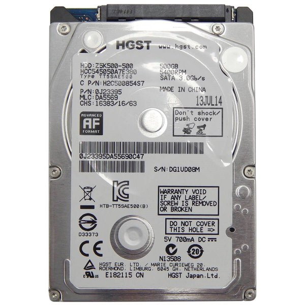 HD 500gb Sata P/ Notebook Hitachi Z5k500 7mm