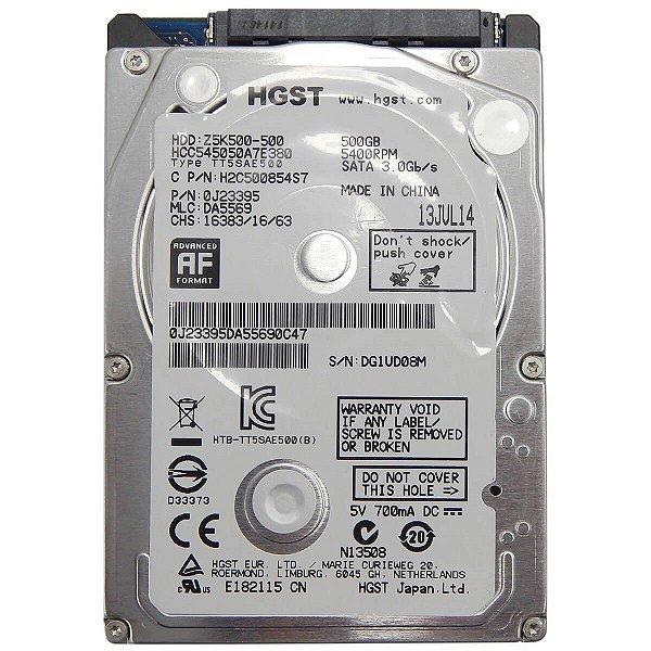 "HD Hitachi 500GB HGST Slim 7mm Sata 3.0gb/s 5400rpm - Ultrabook Notebook 2,5"""