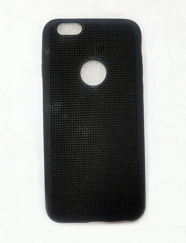 Capa Case Silicone Para Iphone 6S e Iphone 6 - Preto
