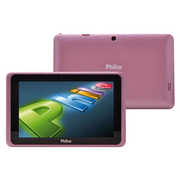 "Tablet Philco PH7ITV Wi-Fi 8 GB Android 4.2 Tv Digital 7"" - Rosa"
