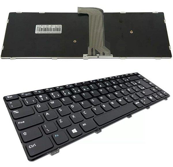 Teclado Compatível Notebook Dell Inspiron 3421 9z.n8vsw.001 Abnt2