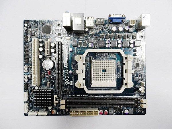 Placa Mãe Desktop Fm1 Amd Ddr3 1866 A55f-m4