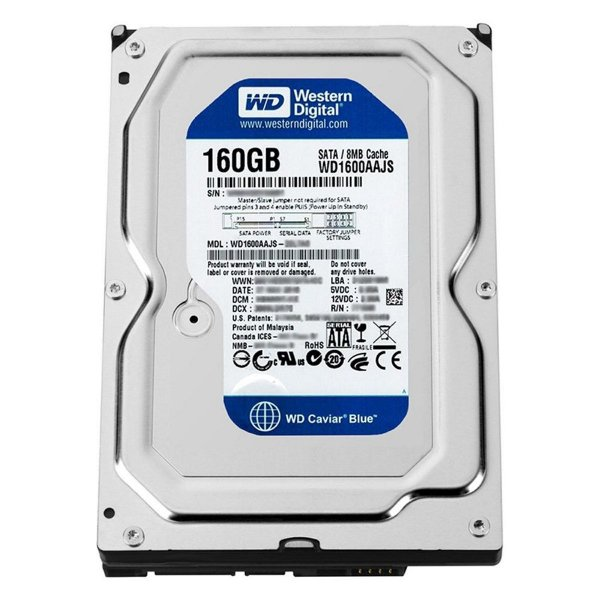 HD 160Gb Desktop Western Digital WD1600AAJS SATA 8mb 7200rpm 3,5""