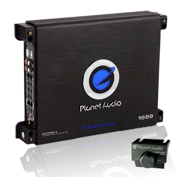 Módulo Amplificador Planet Audio AC1600.4 4canais Classe A/B | Automotivo
