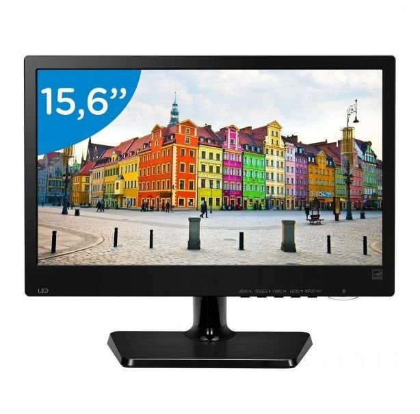 "Monitor LED LCD 15,6"" Positivo 16M38A-B Slim Preto"
