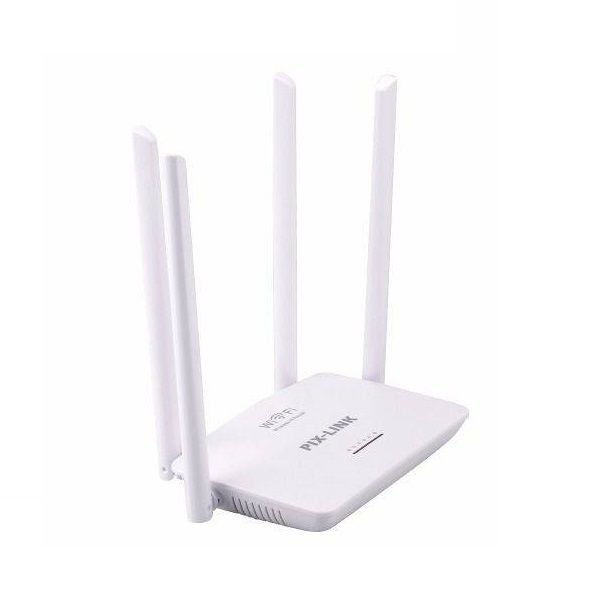 Roteador Wireless Pix-Link LV-WR08 4 Antenas 300Mbps High Performance - Branco