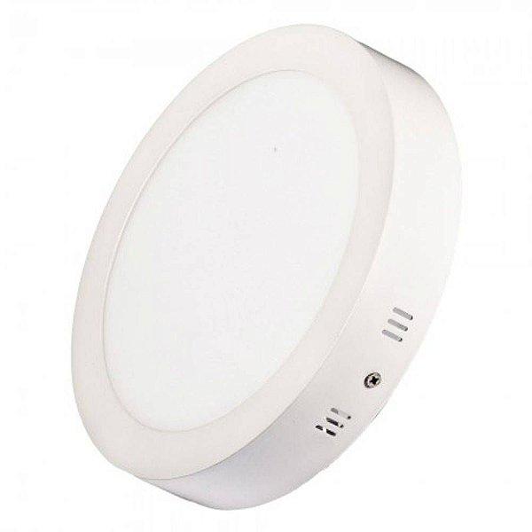 Luminária Painel Plafon 12w Led Redondo Sobrepor Branco Frio